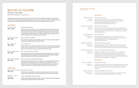 Clean Resume Templates By Hloom
